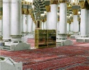 Inside Masjid Nabawi (Quraan Shelf and Shoe Rack)